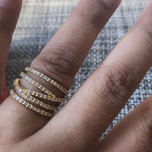 Stella & Dot Pave Ring size 5
